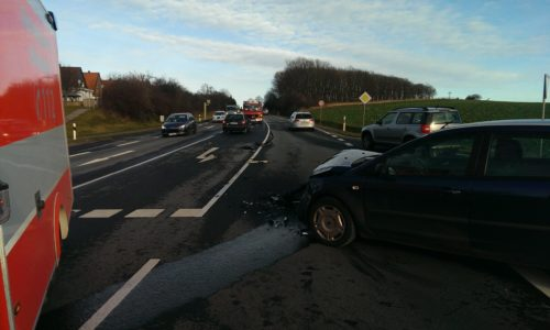 Bundesstraße 1 Verkehrsunfall 9. Januar 2016