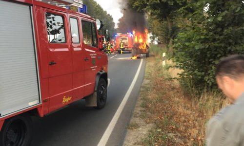 Fahrzeugbrand auf B 1
