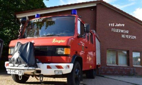Feuerwehr Heyersum feiert 115jähriges Bestehen